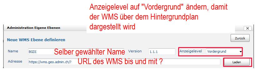 WMS definieren