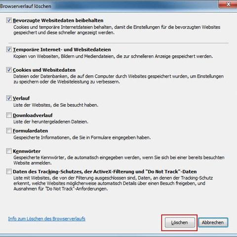 IE11 Browserverlauf löschen