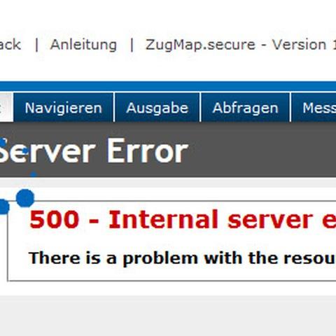 Fehlermeldung bei abgelaufener Session-ID im ZugMap.secure