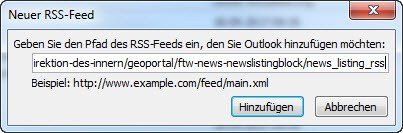 RSS im Outlook 3a
