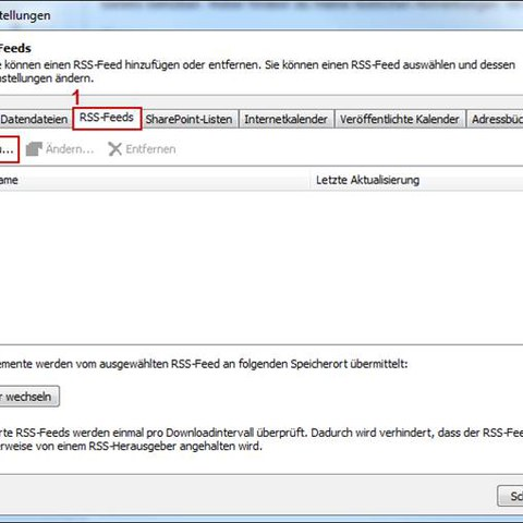 RSS im Outlook 2