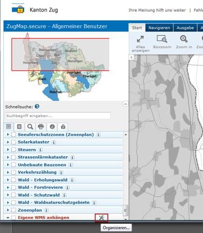 """ZugMap.secure: Funktion """"eigene WMS anhängen"""""""