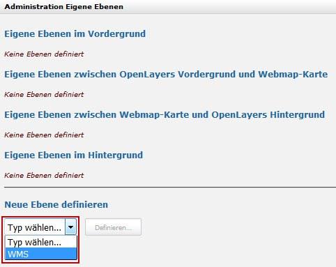 ZugMap.secure: neue Ebene auswählen -> WMS
