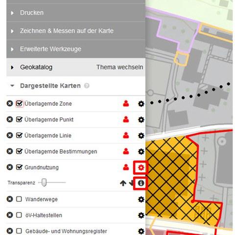 BGDI-Viewer: Infobox aufrufen
