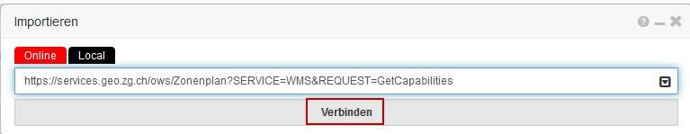 BGDI-Viewer: URL eingeben und verbinden