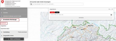 BGDI-Viewer: Werkzeug zum Importieren von Geodiensten