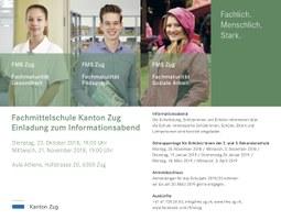 FMS Zug: Informationsabende