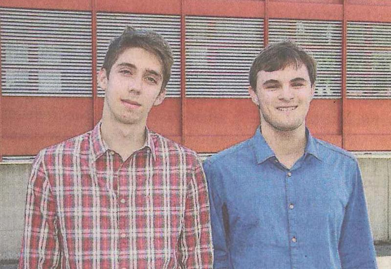 Die beiden stolzen Preisträger Javier Leutenegger und Nico Bosshard