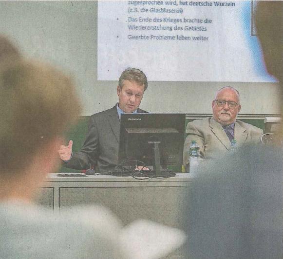 Vizebotschafter Pavel Bednár (links) und Pavel Škoda