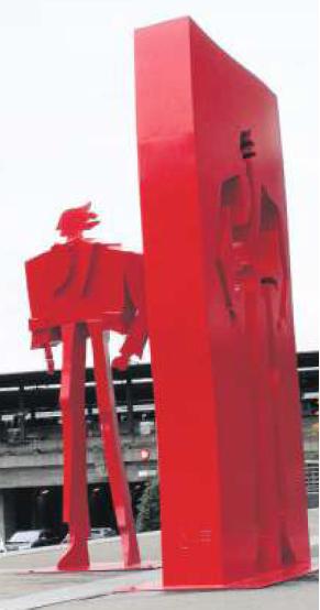 «Der Luftmensch» von Kurt Laurenz Metzler steht an der Baarerstrasse 53/55