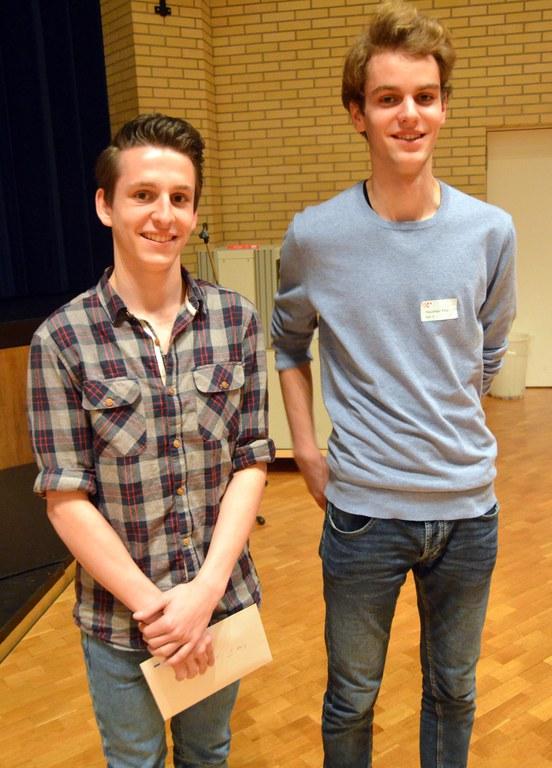 Gewinner der Kategorie I und II (links Philippe Arbenz und rechts Timo Hausheer)