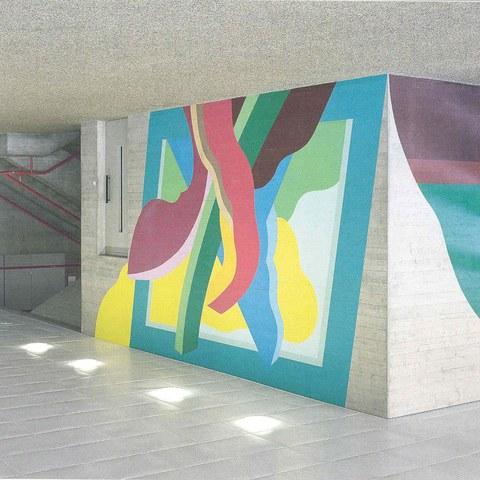 René Myrha - Kunst am Bau - Gebäude 5
