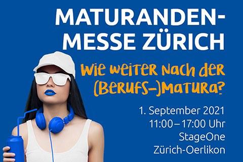 Maturandenmesse Zürich Frau mit Sonnenbrille und Kopfhörer