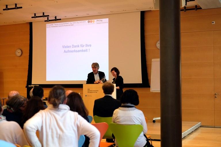 Moderation der Tagung durch Barbara Lischer