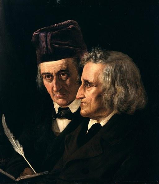 Elisabeth Jerichau-Baumann: Doppelporträt der Brüder Jacob (rechts) und Wilhelm Grimm. Wikimedia.