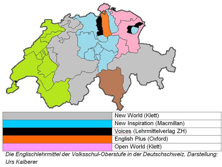 Englischlehrmittel der Volksschul-Oberstufe in der Deutschschweiz