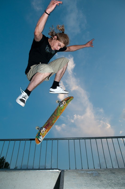 Skateboarder by Andreas Busslinger