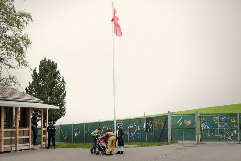Auf der Flucht: Bundesasylunterkunft im Gubel, Foto Michel Gilgen