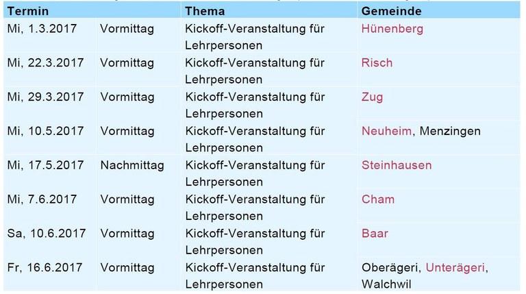 Lehrplan 21: Start der Kickoff-Veranstaltungen