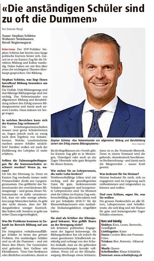 Interview Stephan Schleiss