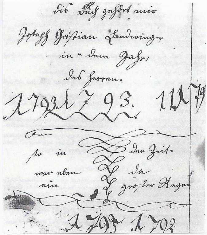 Kritzelheft von Joseph Christian Landtwing