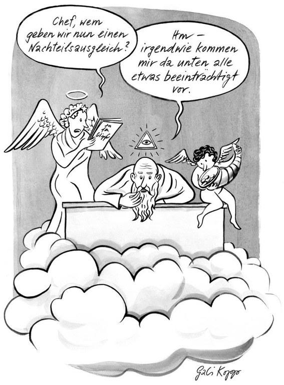 Nachteilsausgleich, Cartoon