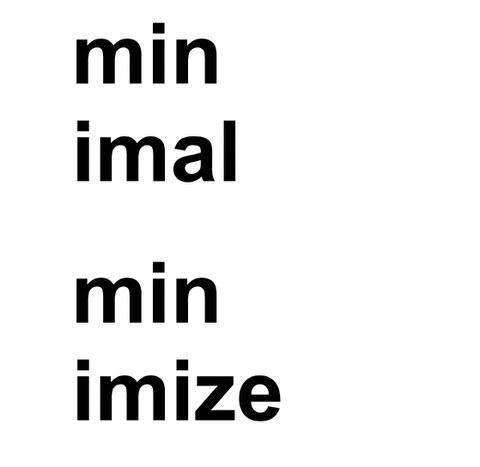 Logo minimal minimize