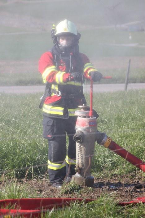 Hydrantier im Dienst