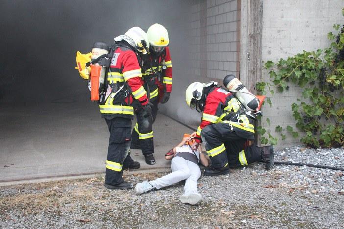 Bergung einer verletzten Person