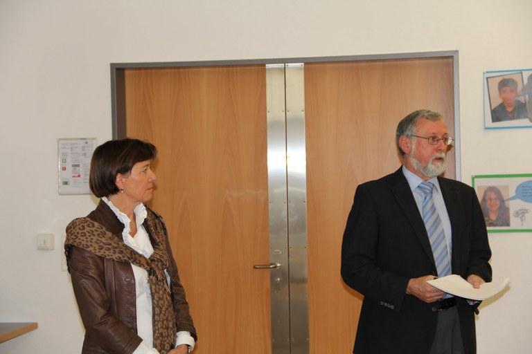 Regula Hürlimann, Gemeindepräsidentin Hünenberg und Jean-Pierre Helbling, Gemeindepräsident Marly