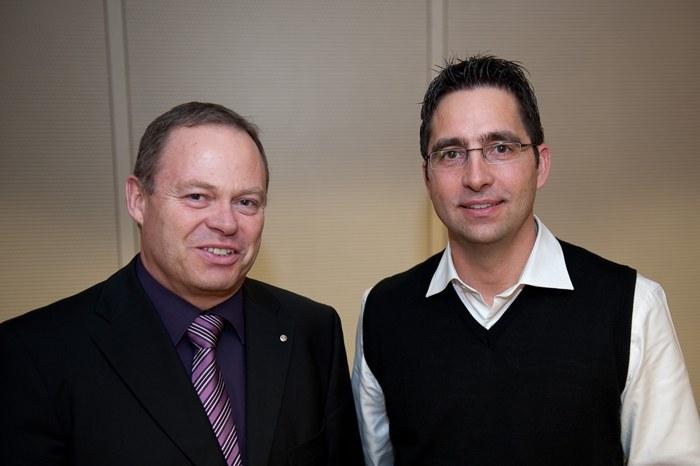links: Guido Wetli, rechts, Marcel Wyler