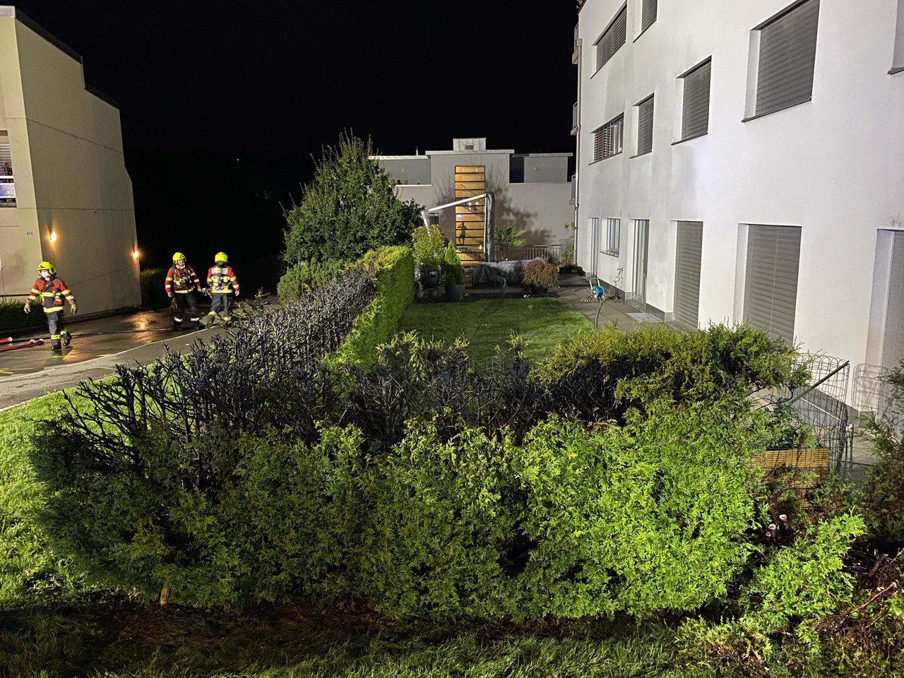 Heckenbrand in Menzingen
