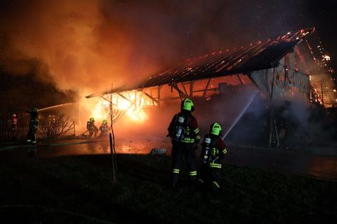 Scheunenbrand in Menzingen