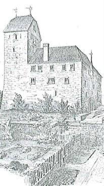 historische Ansicht von Schloss Buonas
