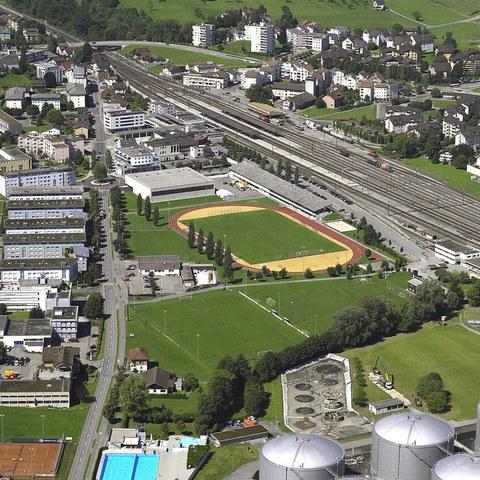 Luftbild Zentrum Rotkreuz