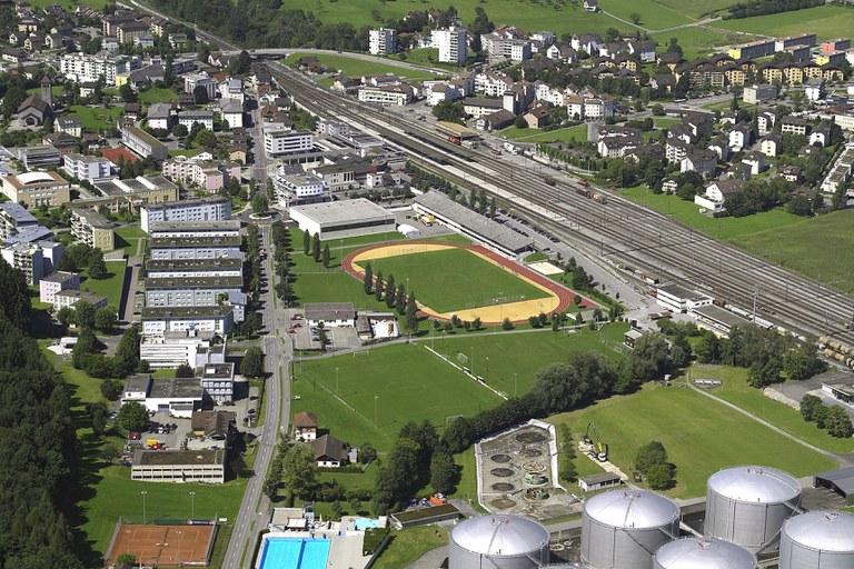 Luftbild Areal Sportpark