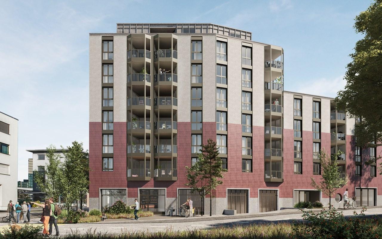 Aussenansicht Neubau für Wohnen im Alter. Die definitive Gestaltung der Aussenansicht kann sich noch verändern.