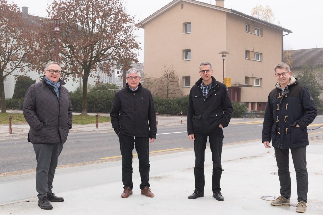 Bild, von links nach rechts: Die vier Präsidenten Dr. Jürg Ruf (Griag), Ulrich Amsler (SARM), Peter Hausherr (EGR) und Patrick Wahl (BGR)