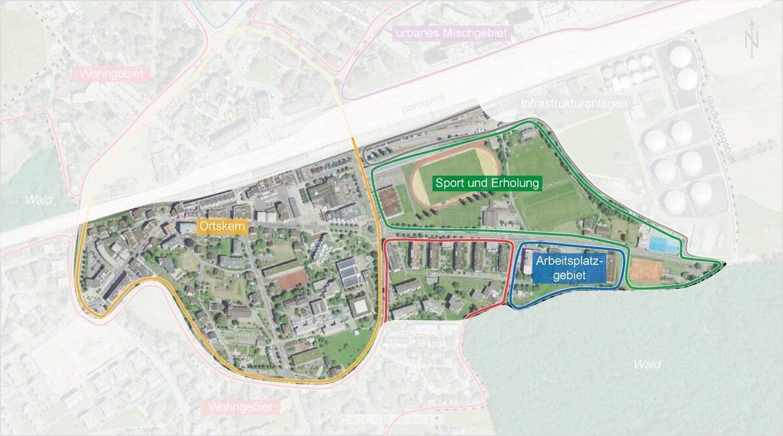 Abbildung 1: Perimeter der Strategie öffentliche Nutzungen Zentrum Rotkreuz (SÖNZR)