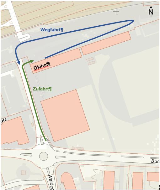 Zufahrt Ökihof