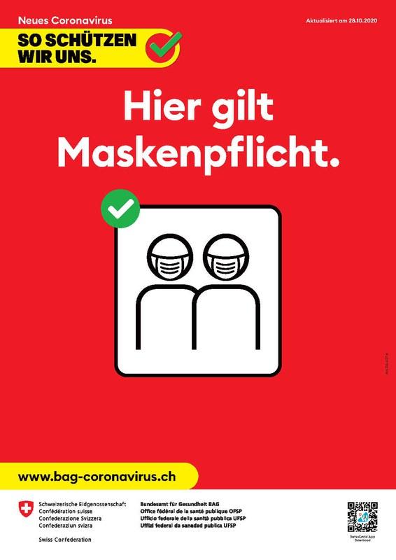 Plakat BAG Maskenpflicht
