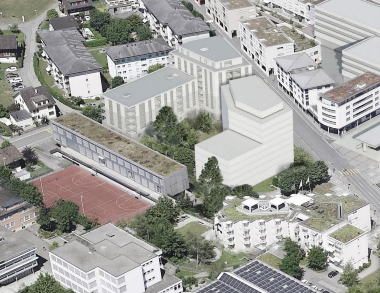 Visualisierung des Neuen Zentrums Dreilinden
