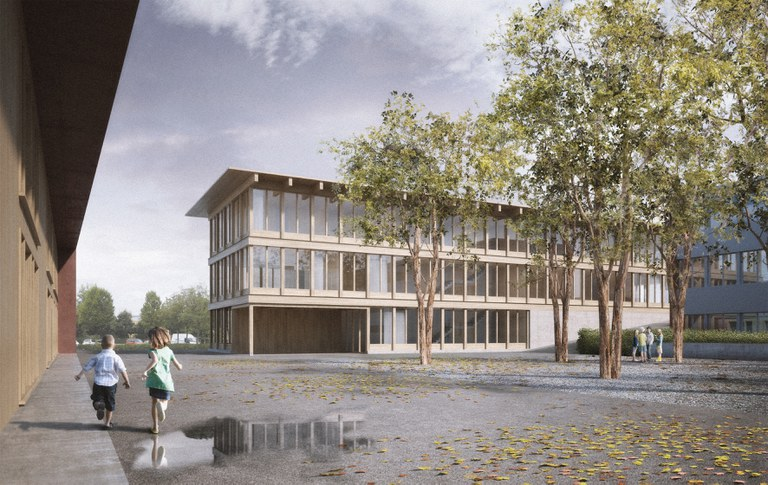 """Visualisierung Neubau Meierskappelerstrasse (Projekt """"Strichpunkt"""")"""