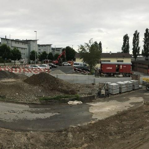 Panorama neuer Zufahrtsweg