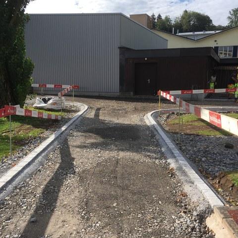 neue Wegverbindung Kunstrasenfeld-Hauptfeld