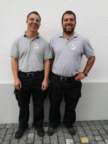 Neue Offiziere Remo Zberg und Claudio Staub
