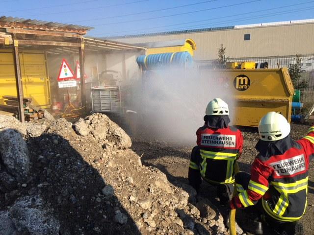 Brandbekämpfung bei Baufirma