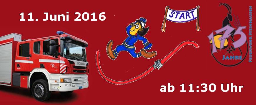 Banner Feuerwehrfest 2016
