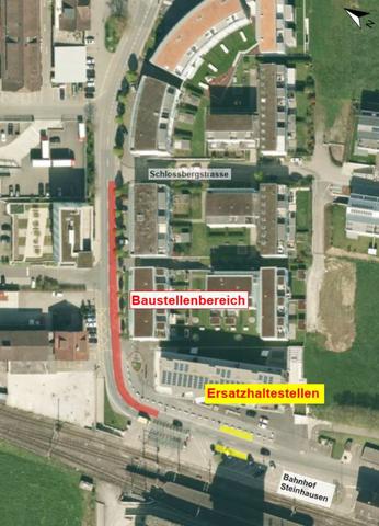 Baustelleninformation Bahnhofstrasse