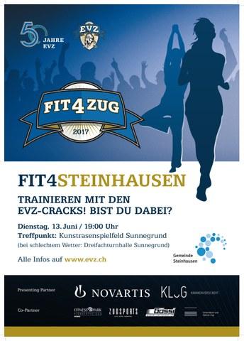 Infoplakat Fit4Steinhausen mit dem EVZ